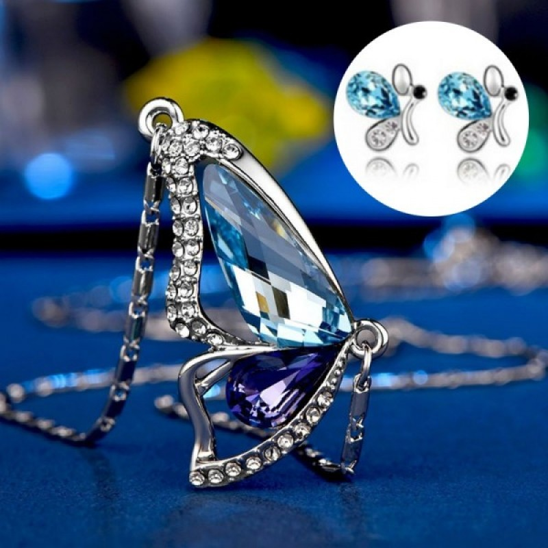 Komplet CRYSTAL BUTTERFLY